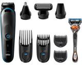 Kit de ingrijire multifunctional Braun 9 in 1 MGK5280, 4 piepteni, 13 lungimi, Autonomie 100 min, Tehnologie AutoSensing + Aparat Gillette Flexball (N