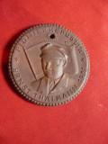 Medalia Organizatiei de Pionieri Ernst Thalmann RDG -portelan Maissen ,d=4cm