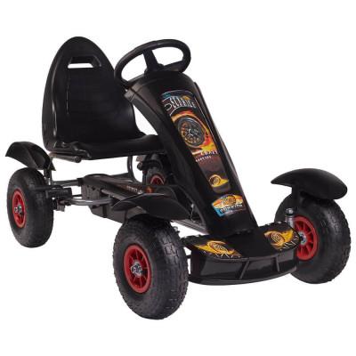 Kart cu pedale F618 Air negru Kidscare foto