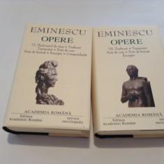 MIHAI EMINESCU OPERE   VOLUMELE  VI, VII,EDITURA ACADEMIEI,EDITIE DE LUX-RF10/4