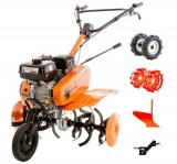 Motosapa Ruris DAC 7000 ACC 2, 7CP + roti cauciuc 4.00-8 + roti metalice 350 fara manicot + plug + adaptor plug