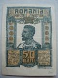 ROMANIA - 50 BANI 1917 FERDINAND I , B1.12
