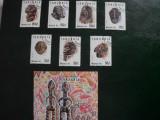 TANZANIA- 1992-1437/43 serie +bloc obliter.prima zi a emis.-Arta africana, Rusia, Stampilat
