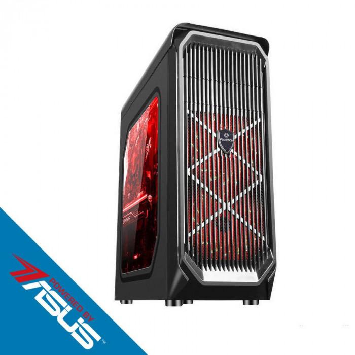 Sistem desktop Game ON V2 Powered by ASUS Intel Core i3-8100 Quad Core 3.6 GHz 8GB DDR4 AMD Radeon RX 560 OC 4GB DDR5 SSD 240GB + HDD 1TB FreeDOS Blac