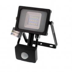 Proiector LED SMD cu senzor Well, 10 W, 800 lm, 4000 K