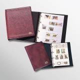Clasor timbre de buzunar, 5 folii albe, coperta captusita, format A5 - Burgundy