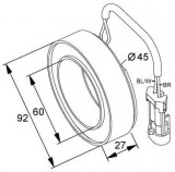 Bobina ambreiaj magnetic compresor OPEL Zafira B NRF 38420