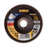 Disc lamelar XR FlexVolt pentru polizare inox 125x22.23mm 80gr DeWalt - DT99585