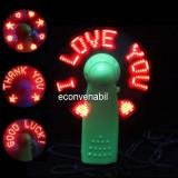 Mini Ventilator Portabil pe Baterii cu mesaje luminoase Saying Fan