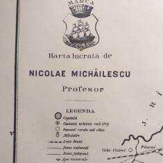 JUDETUL BRAILA // HARTA CROMOLITOGRAFIATA, 1904