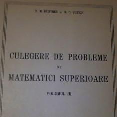 CULEGERE DE PROBLEME DE MATEMATICI SUPERIOARE-VOL-3-N.M. GUNTER-R.O. CUZMIN-