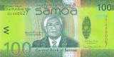Bancnota Samoa 100 Tala (2017) - P44b UNC ( hibrid = hartie + polimer )