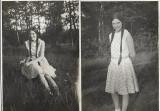 2 fotografii tanara sasoaica Sebes Alba Transilvania 1931