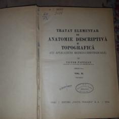 Tratat elementar de anatomie descriptiva si topografica vol.2/an1946- V.Papilian