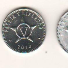 SV * Cuba  LOT  1 - 2 - 5 - 20  CENTAVOS  +  1  PESO  2008 - 2010 - 2013     UNC, Asia, Aluminiu
