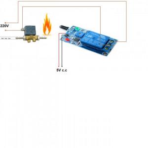 DETECTOR SENZOR de flacara ideal in automatizari cuptoare sau robotica