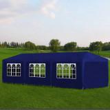 Cort de petrecere, albastru, 3 x 9 m