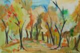 Tablou peisaj padure - semnat D.Bajenaru