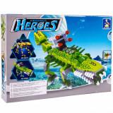 Set cuburi model dinozaur, 262 piese, verde