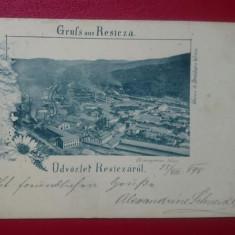 Romania Caras Severin Salutari din Resita 1898, Circulata, Printata