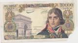 FRANTA 10000 FRANCS FRANCI BONAPARTE 4-7-1957 UZATA