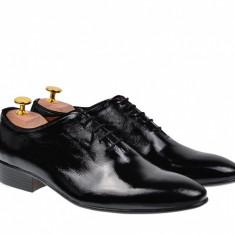 Pantofi barbati eleganti, negri, din piele naturala - 024NLAC2