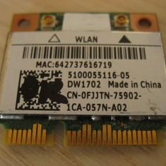 Placa wireless laptop Dell Vostro 1014, Dell DW1702, 0FJJTN, Atheros AR5B195