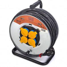 Prelungitor electric rola 3x1.5, 50m