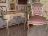 Masa de toaleta/birou baroc venetian/rococo/Ludovic,vintage/antic,lemn/shabby, Birouri si secretari, Dupa 1950
