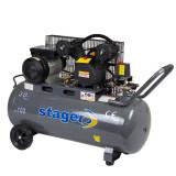 Cumpara ieftin Compresor cu piston Stager HMV0.25 100, 100 L, 8 bar, 250 l min, 3 CP, monofazat