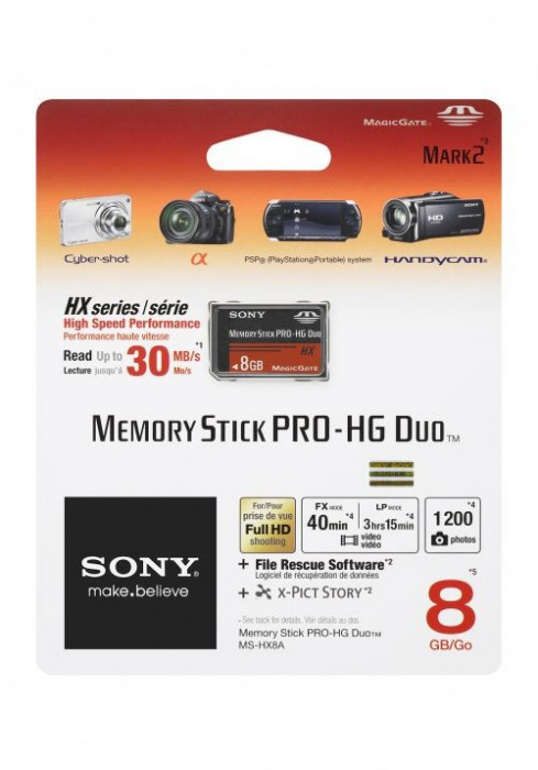 Memory Stick Pro-HG Duo 8 GB SONY