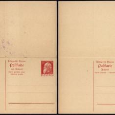 Germany Bavaria - Postal History Rare Old Postcard + Reply UNUSED DB.224