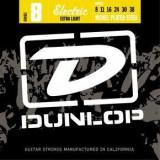 Corzi chitara electrica Dunlop Nickel Plated Steel 8 - Extra Light 8-38
