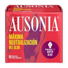 Absorbante cu Aripioare Superplus Ausonia (10 uds)