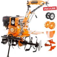 Motosapa Ruris 751KS, 8.5 CP, Benzina, 4 timpi + roti cauciuc + rarita + plug reversibil rev1 + roti metalice 400 fara manicot