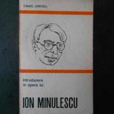 DANIEL DIMITRIU - INTRODUCERE IN OPERA LUI ION MINULESCU