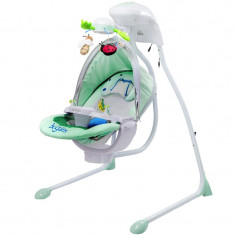 Leagan electric pentru bebelusi Caretero Bugies LCBV, Verde