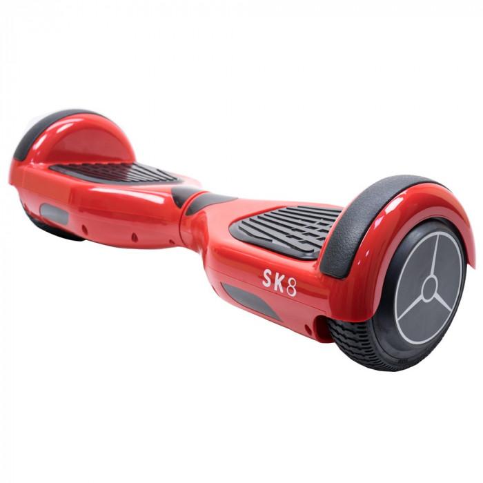 Resigilat : Scooter electric PNI Escort SK8 roti 6.5 inch Rosu