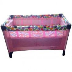 Patut pliabil pentru copii BABY CARE FG 396R, Multicolor