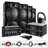 Cumpara ieftin Electronic-Star Bass First Pro, DJ PA set, 2 x amplificator, 4 x difuzor, mixer, 4 x 500 W