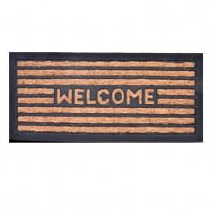 Covoras ingust pentru intrare, 60 x 25 cm, mesaj Welcome