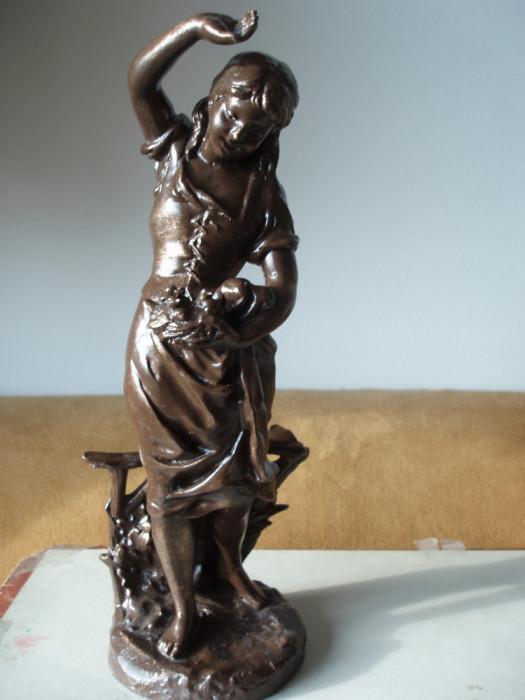 STATUETA ANTIMONIU Franta Sec. XIX semnata E LAPORTE ( 1858-1907)