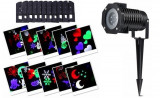 Proiector laser 4 anotimpuri cu 12 diapozitive interschimbabile,Craciun,An Nou,Halloween,Valentines Day,Party