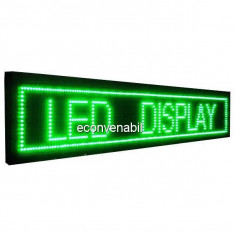 Panou Afisaj Firma Luminoasa Exterior cu LEDuri Verzi 100x20cm