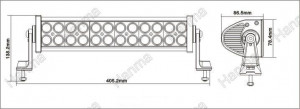 Bara proiectoare LED Auto Offroad 72W/12V-24V, 5280 Lumeni, 13,5″/35 cm, Combo Beam 12/60 Grade