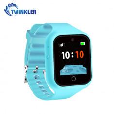 Ceas Smartwatch Pentru Copii Twinkler TKY-M5S cu Functie Telefon, Localizare GPS, Camera, SOS, Istoric traseu, Bleu, Cartela SIM Cadou