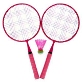 Rachete badminton roz pentru copii