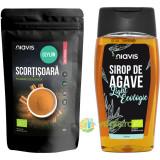 Scortisoara Ceylon Pulbere Ecologica/Bio 60g + Sirop de Agave Light Ecologic/Bio 250ml/350g