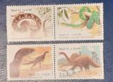 Cumpara ieftin Brazilia 1991 , fauna animale preistorice , reptile, dinozauri serie 4v mnh