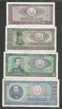 ROMANIA  LOT / SET 4 buc  : 10 + 25 + 50 + 100  LEI  1966  [4]  stari VF+ / XF